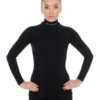 Bluza damska BRUBECK EXTREME WOOL czarna