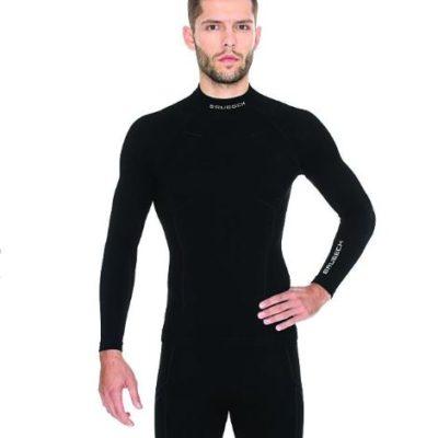 Bluza męska BRUBECK EXTREME WOOL czarna