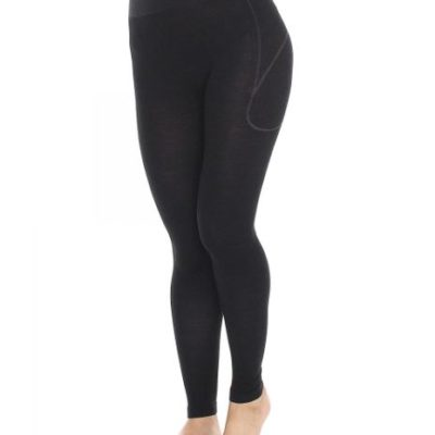 Spodnie damskie BRUBECK ACTIVE WOOL czarna