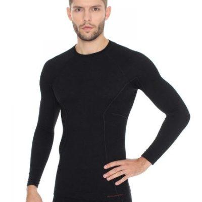 Bluza męska BRUBECK ACTIVE WOOL czarna