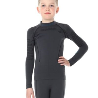 Bluza junior BRUBECK THERMO czarna