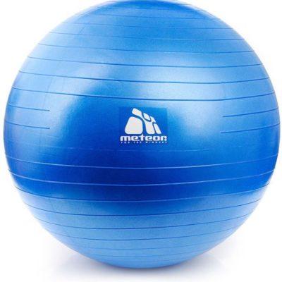 Piłka do fitnessu z pompką, średnica 65 cm METEOR niebieska