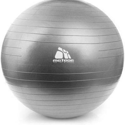 Piłka do fitnessu z pompką, średnica 75 cm METEOR czarna