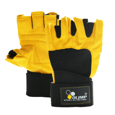 Rękawice treningowe OLIMP Hardcore Raptor czarno-żółte