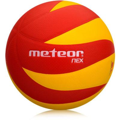 Piłka siatkowa METEOR NEX żółto-czerwona