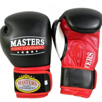 Rękawice bokserskie MASTERS RPU-5 czarno-czerwone 14 oz