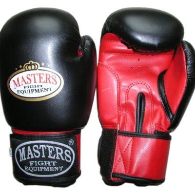 Rękawice bokserskie MASTERS RPU-2A czarno-czerwone