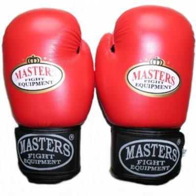 Rękawice bokserskie MASTERS RPU-2A czerwono-czarne 6 oz