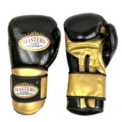 Rękawice bokserskie MASTERS RPU-9 czarno-złote 12 oz