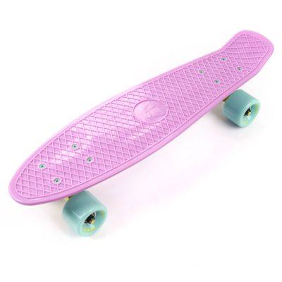 Deskorolka FISZKA METEOR plastikowa pastelowy różowy/miętowy/żółty