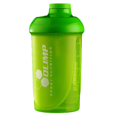 Shaker OLIMP 500 ml RUNNING IS CHEAPER THAN THERAPY zielony