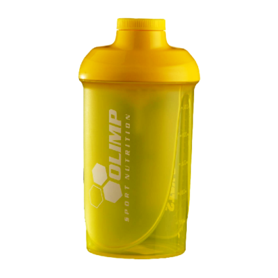 Shaker OLIMP 500 ml STAY POSITIVE WORK HARD żółty