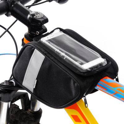 Sakwa rowerowa na ramę z etui na telefon METEOR TORYS