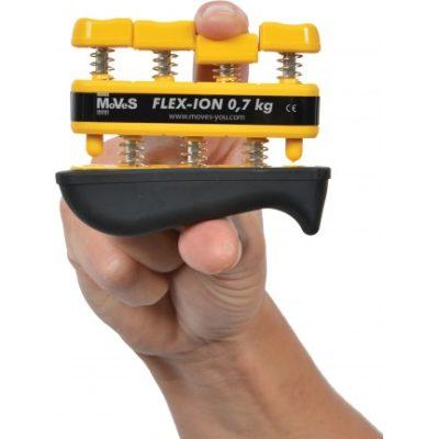 Przyrząd (ściskacz) do treningu dłoni MoVes Flex-Ion żółty 0,7/2,3 kg