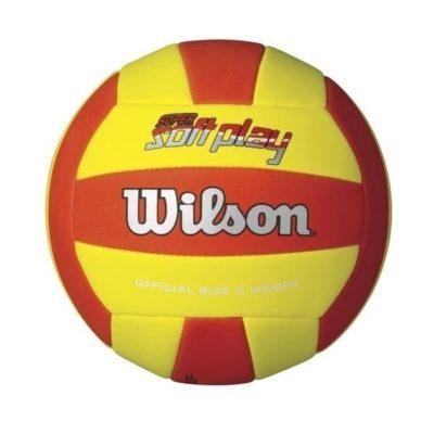 Piłka siatkowa Wilson Super Soft niebiesko-pomarańczowa #5